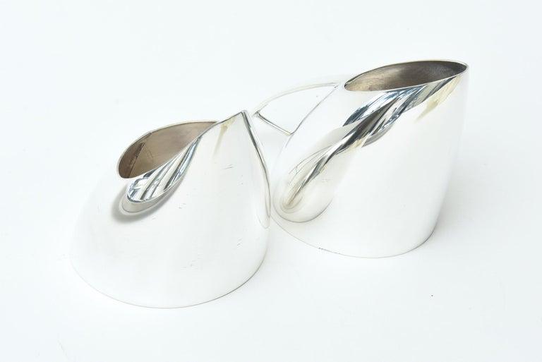 Guido Niest Modernist Silver-Plate Tea Coffee Service Signed Italian For Sale 1