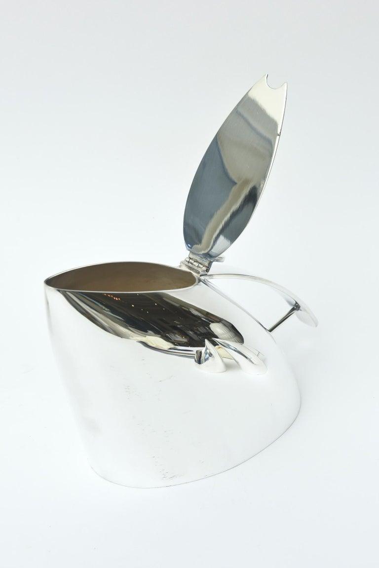 Guido Niest Modernist Silver-Plate Tea Coffee Service Signed Italian For Sale 2