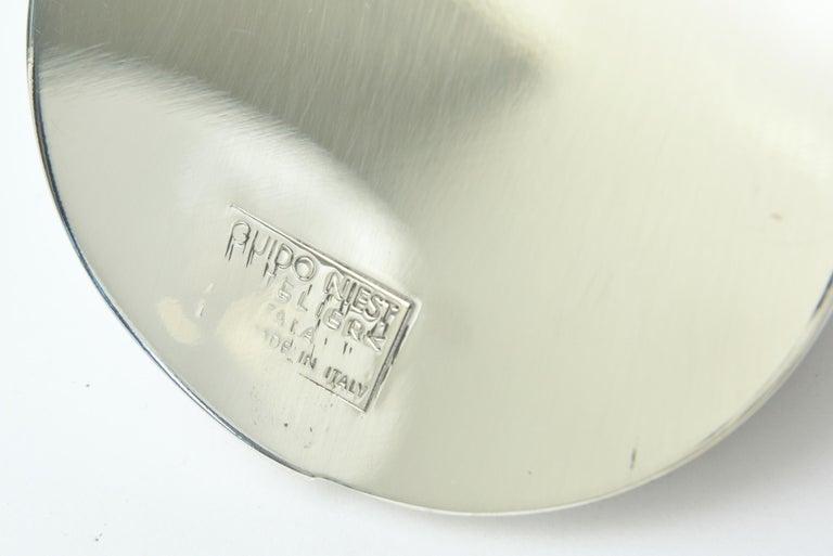 Guido Niest Modernist Silver-Plate Tea Coffee Service Signed Italian For Sale 4