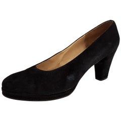 Guido Pasquali Black Velvet Heels - Size 39 1/2 (EU)