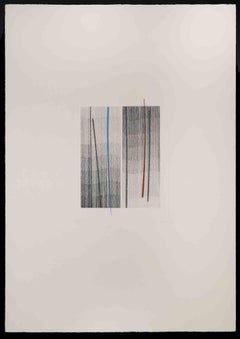Lines - Original Etching by Guido Strazza - 1980