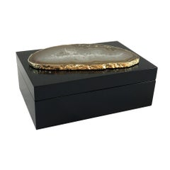 Guilherme Large Agate Box in Black and Natural Stone by CuratedKravet
