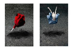 Desert Rose and Booming Flower I Diptych, Large Color Figurative Photography