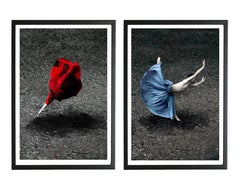 Desert Rose and Booming Flower II Diptych (Color Figurative Photography) Framed