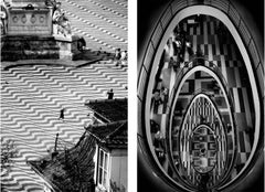 Diptych: As Paloma and Egg, Black and white  archival pigment print, Large