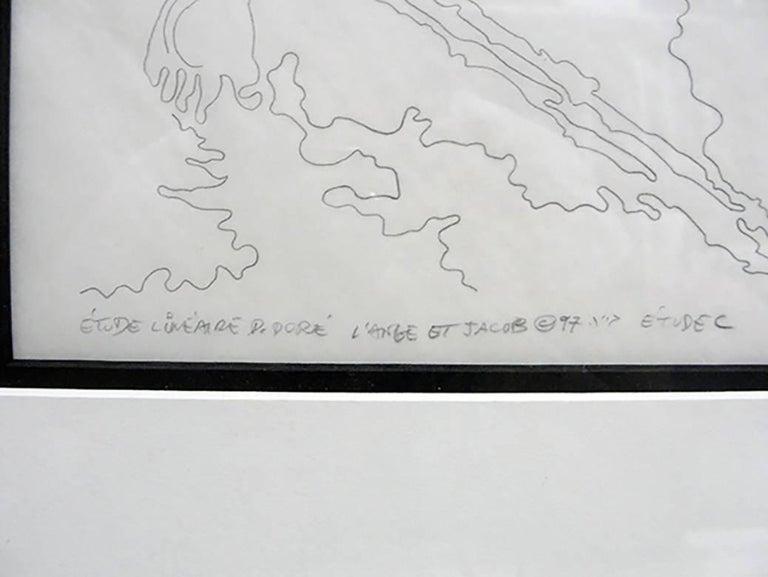 ETUDE LINEAIRE D. DORE L'ANGE ET JACOB 1997 ETUDE C - Art by Guillaume Azoulay