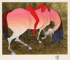 """""""Epuise II"""" Horse and Woman Rider Print by Guillaume Azoulay"""