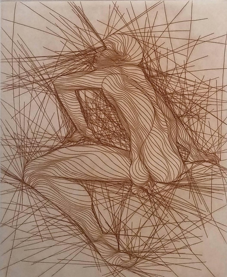 Guillaume Azoulay Figurative Print - HOMME ASSIS