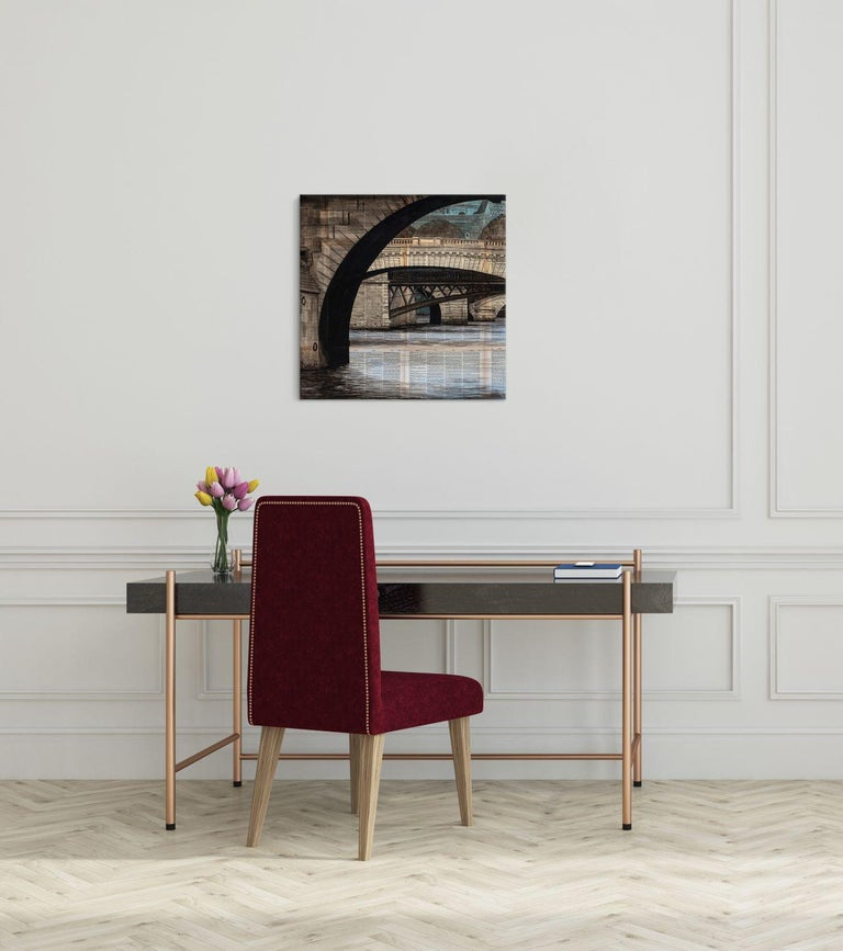 Arches by Guillaume Chansarel - Urban Landscape painting, Bridges of Paris - Painting by Guillaume Chansarel (Guiyome)