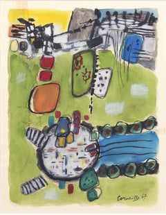 Untitled, Corneille, 1967 (Abstract Dutch modernist painting in bright colors)