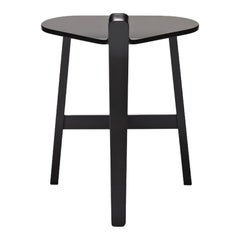 Guillaume Delvigne 'Bronco' Black Lacquered Wood Stool