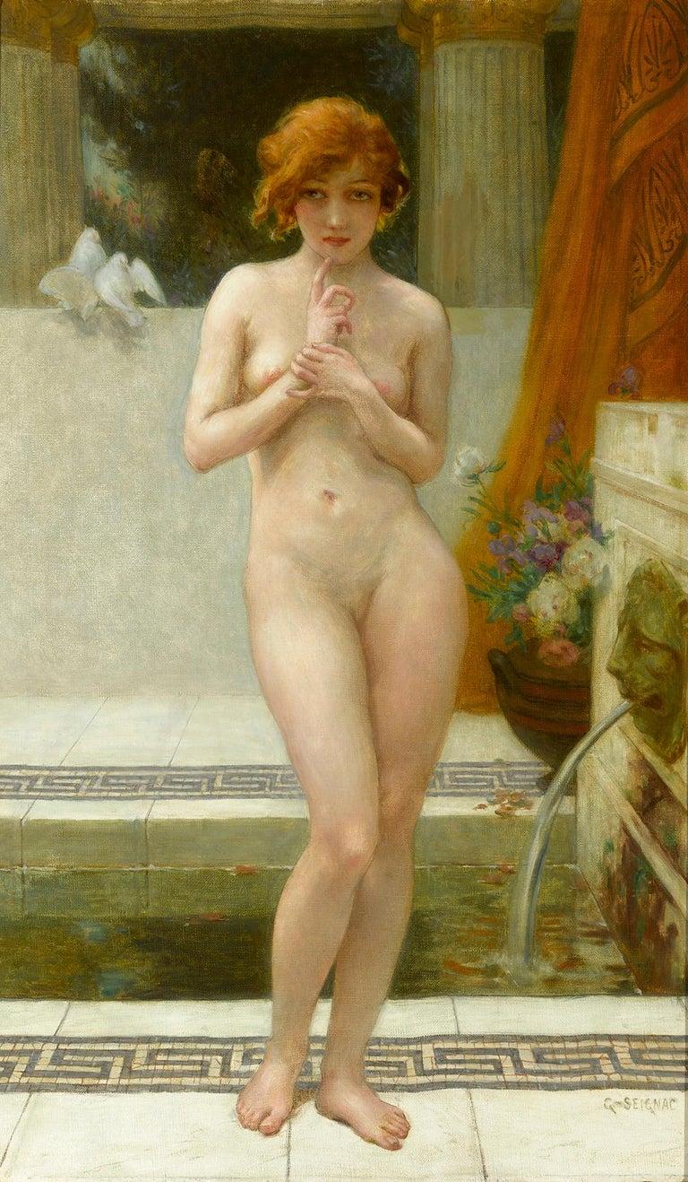 Guillaume Seignac Nude Painting - Mutine