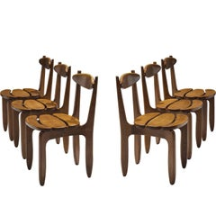 Guillerme and Chambron Patinated Set of Dining Chairs