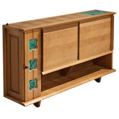 Guillerme and Chambron Buffet in Oak with Ceramic Details