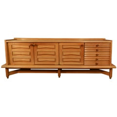 Guillerme and Chambron Credenza in Oak, Edition Votre Maison, circa 1970