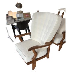 Guillerme and Chambron Grand Repos Lounge Chairs