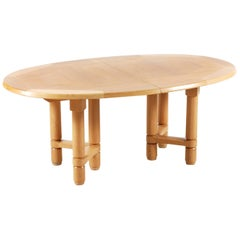 "Guillerme and Chambron, Large ""Elmyre"" Oak Dining Table, for Votre Maison, 1960"