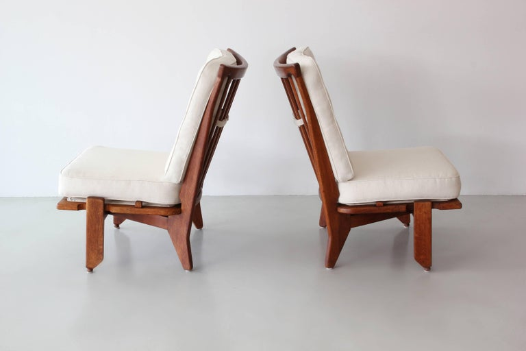 French Guillerme and Chambron Lounge Chairs For Sale