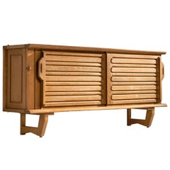 Guillerme and Chambron Oak Credenza, 1960s