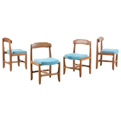 "Guillerme and Chambron, Set of 4 ""Véronique"" Chairs, for Votre Maison, 1960"