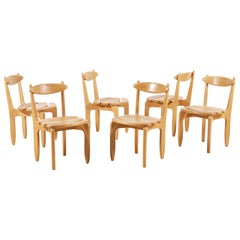 "Guillerme and Chambron, Set of 6 ""Thierry"" Dining Chairs, for Votre Maison, 1960"