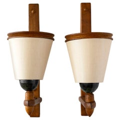 Guillerme and Chambron Wood Sconces