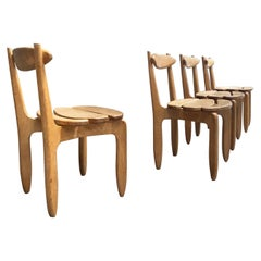 """Guillerme & Chambron a Set of 4 """"Thierry Chairs"""" for Votre Maison"""