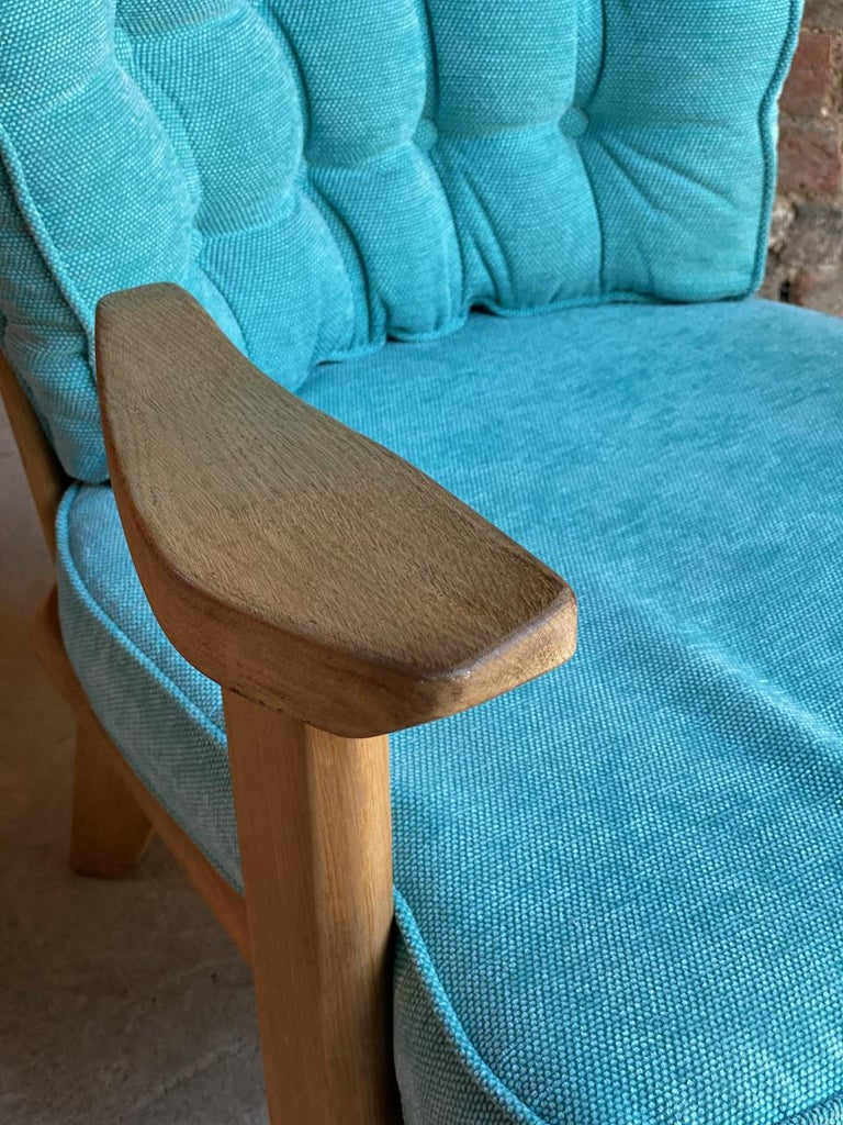 Guillerme & Chambron Armchairs Lounge Chairs, France, circa 1950s For Sale 3