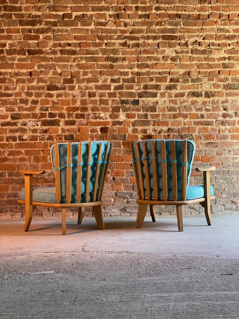 Guillerme & Chambron Armchairs Lounge Chairs, France, circa 1950s In Good Condition For Sale In Longdon, Tewkesbury