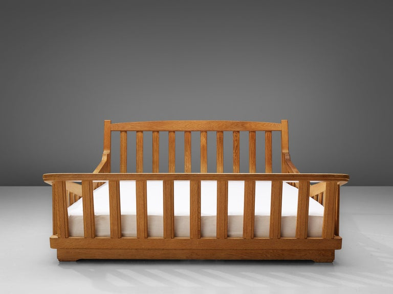 Guillerme & Chambron Bed in Solid Oak 4