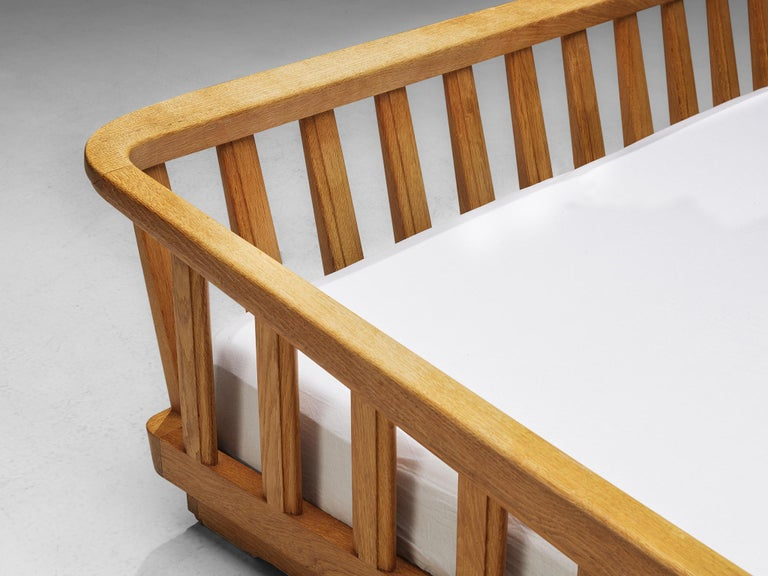 Guillerme & Chambron Bed in Solid Oak 2
