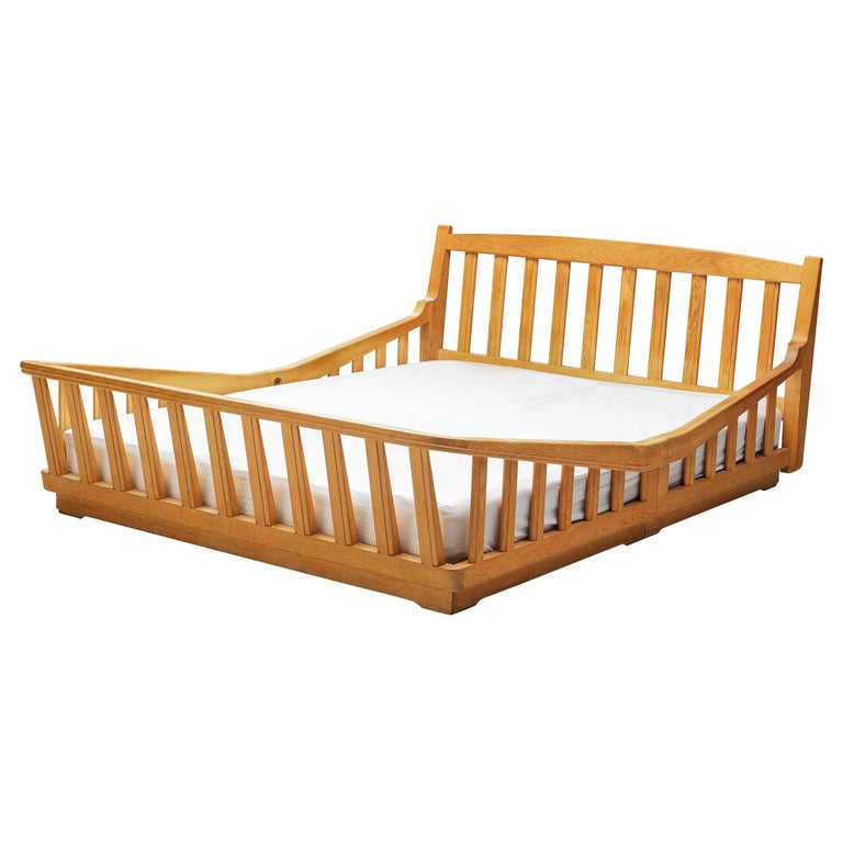 Guillerme & Chambron Bed in Solid Oak