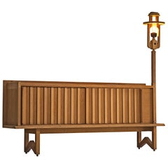 Guillerme & Chambron Credenza in Oak with Lantern