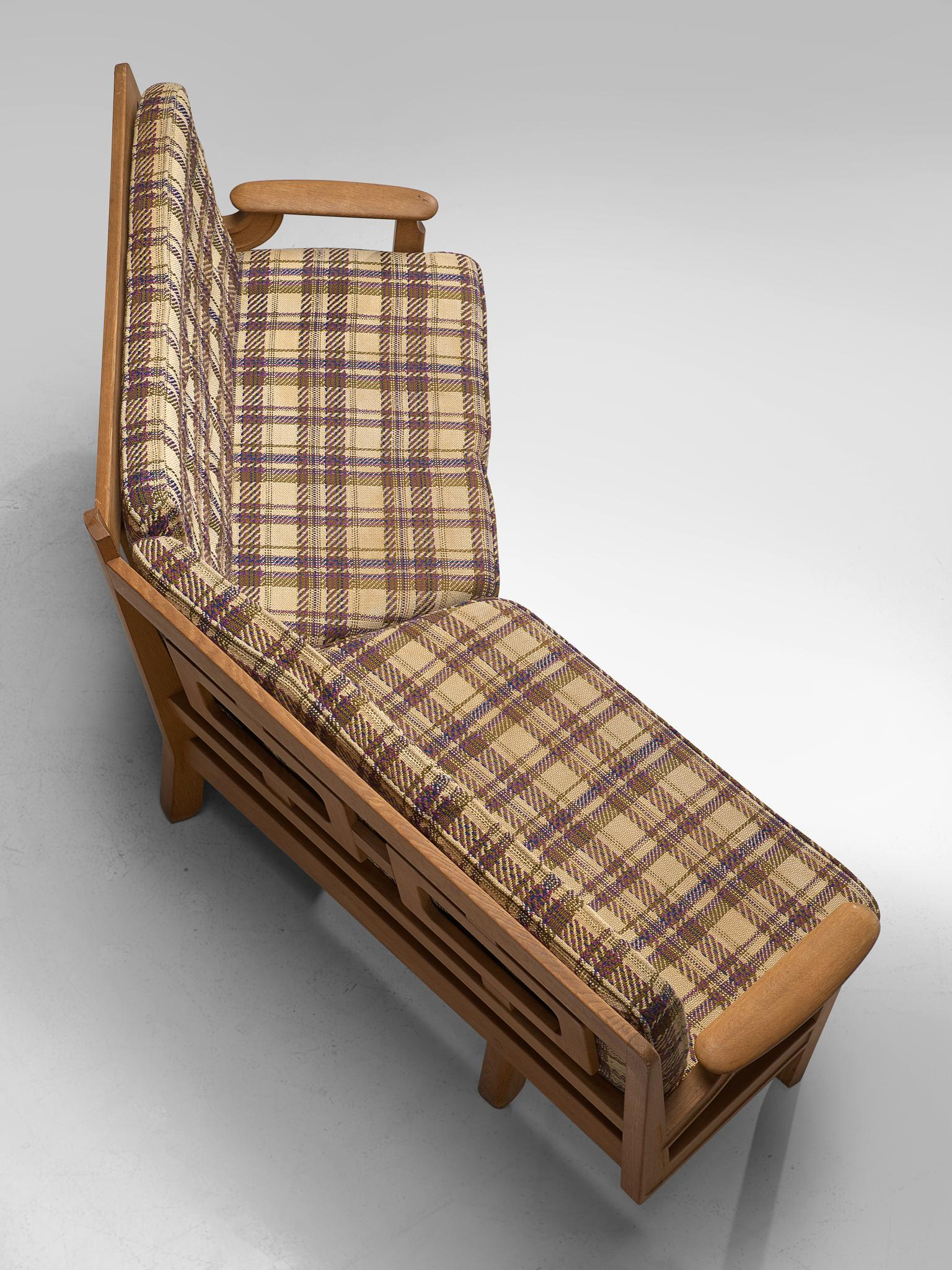 Guillerme U0026 Chambron Curved Sofa In Checkered Upholstery
