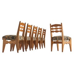 Guillerme & Chambron Dining Chairs in Oak