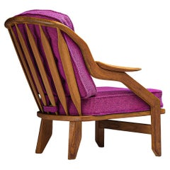 Guillerme & Chambron Lounge Chair in Pink Upholstery