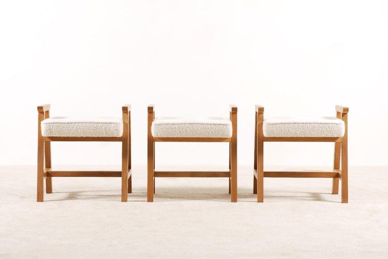 Guillerme & Chambron, Set of 3 Oak
