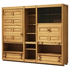 Guillerme & Chambron Shelf with Drawers in Oak