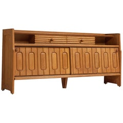 Guillerme & Chambron Sideboard in Oak and Ceramics