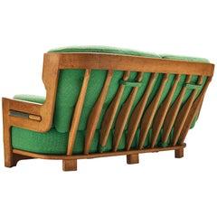 Guillerme & Chambron Sofas Model 'Denis' in Solid Oak