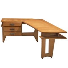 Guillerme & Chambron Solid Oak Corner Desk