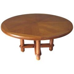 Guillerme & Chambron, Victorine Dining Room Table in Oak, Edition Votre Maison