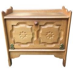 Guillerme et Chambron, Solid Oak Cabinet Edition Votre Maison, circa 1970-1980