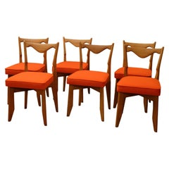 Guillerme et Chambron, a Set of Six Chairs, 1960s