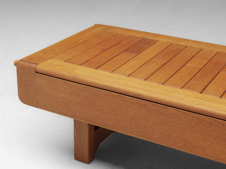 Guillerme et Chambron Adjustable Table in Oak For Sale 4