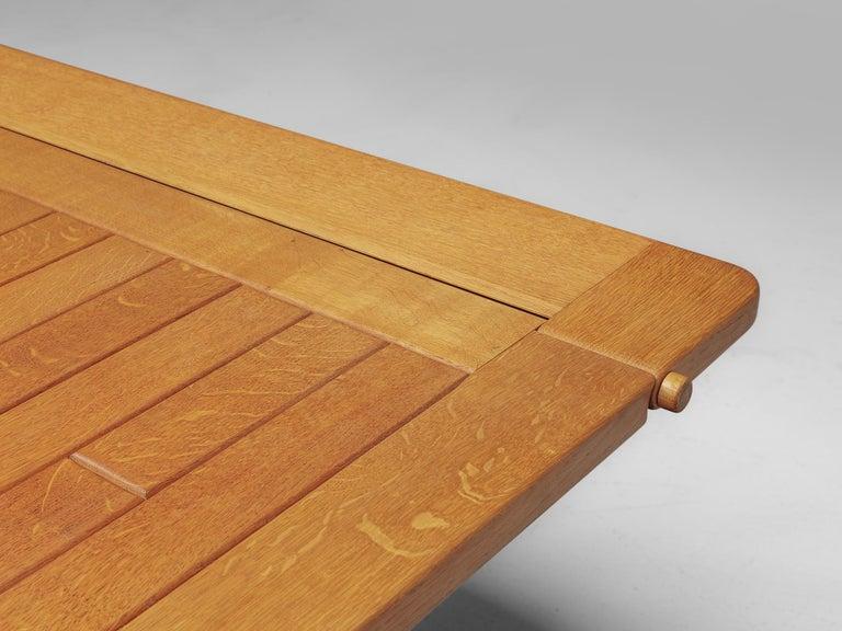 Guillerme et Chambron Adjustable Table in Oak For Sale 1