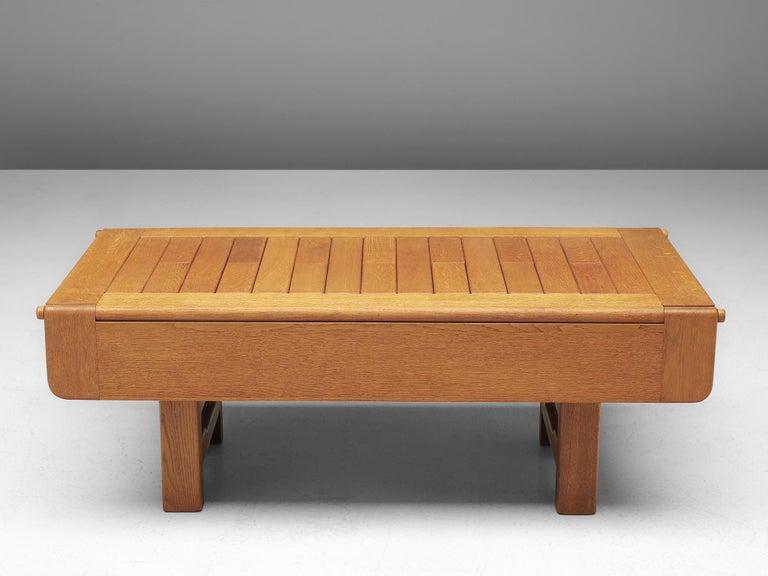 Guillerme et Chambron Adjustable Table in Oak For Sale 3