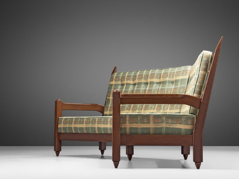 Guillerme et Chambron Angular Sofa in Oak For Sale 3