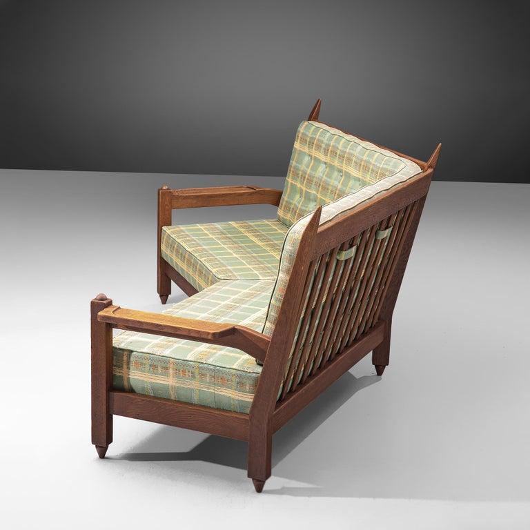 Guillerme et Chambron Angular Sofa in Oak For Sale 2