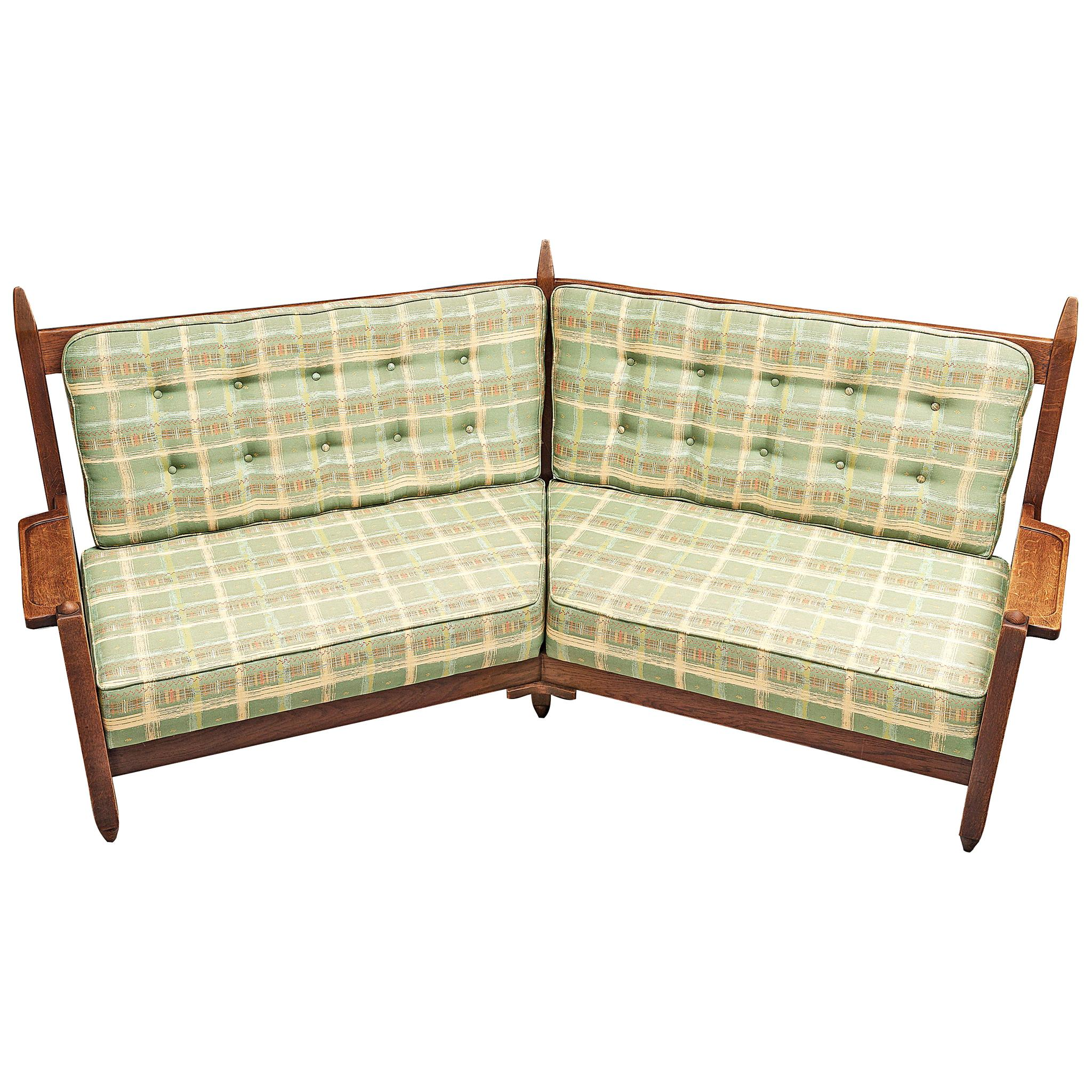 Guillerme et Chambron Angular Sofa in Oak